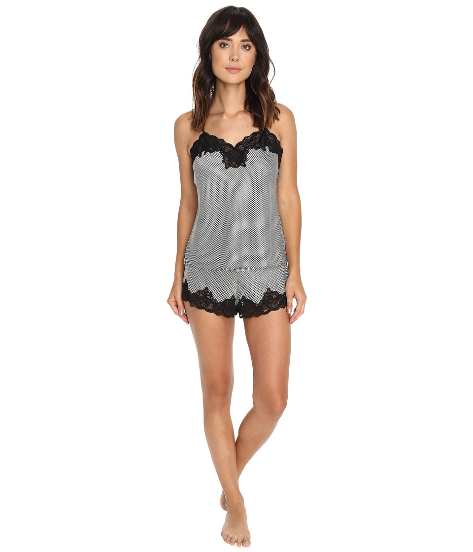 LAUREN Ralph Lauren - Satin Cami Top Pajama Set (Houndstooth) Women's Pajama Sets