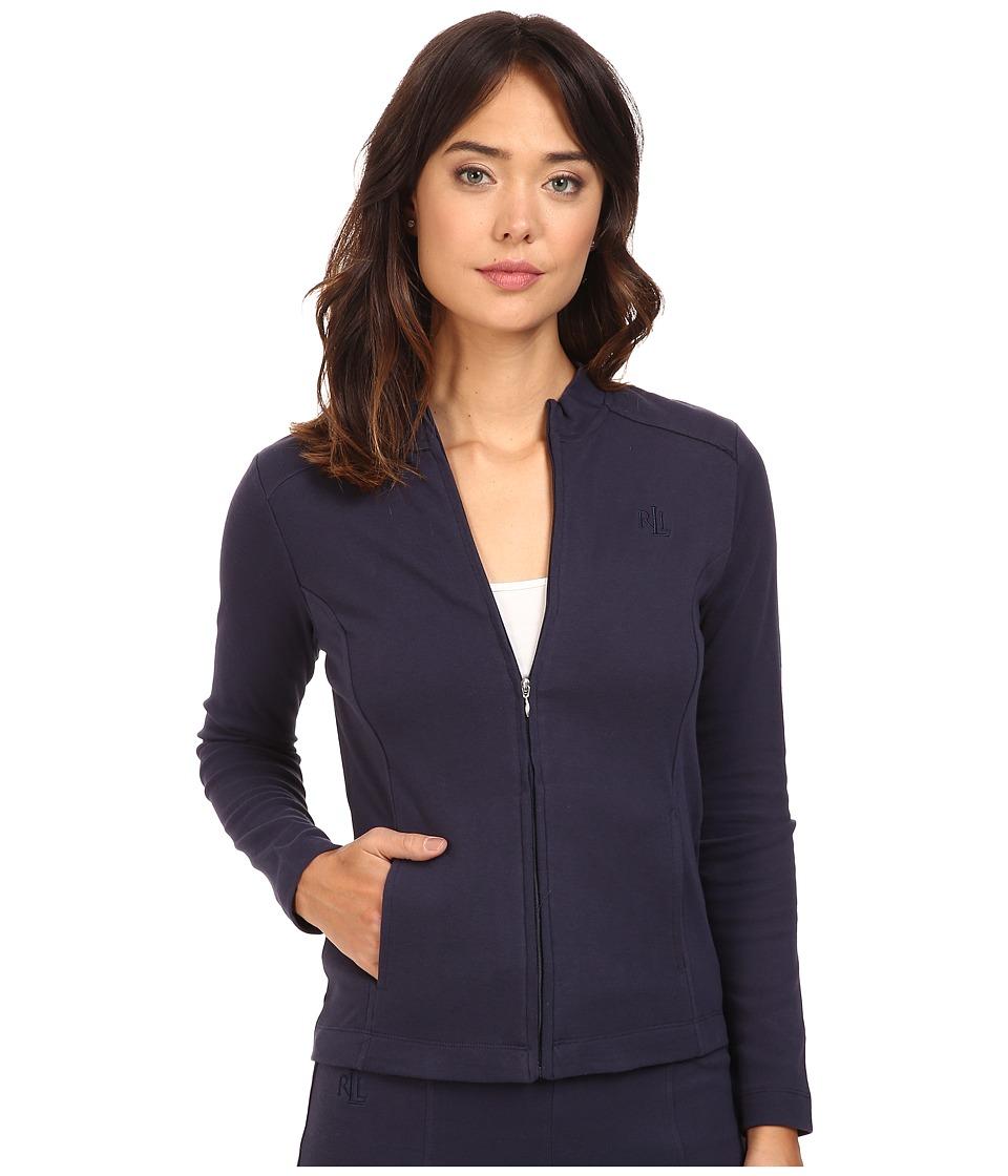 LAUREN Ralph Lauren - Lounge Zip Jacket (Navy) Women's Coat