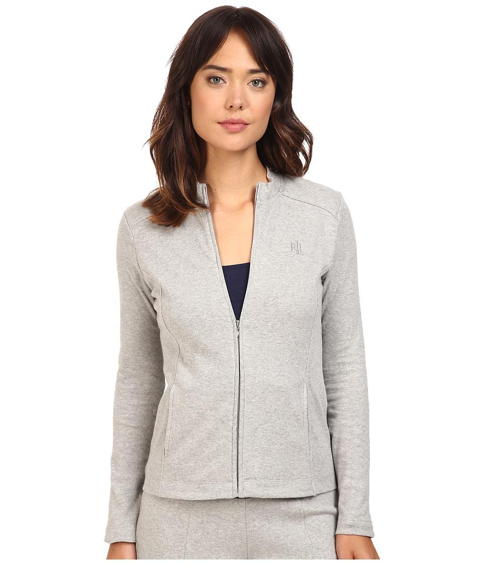 LAUREN Ralph Lauren - Lounge Zip Jacket (Grey Heather) Women's Coat