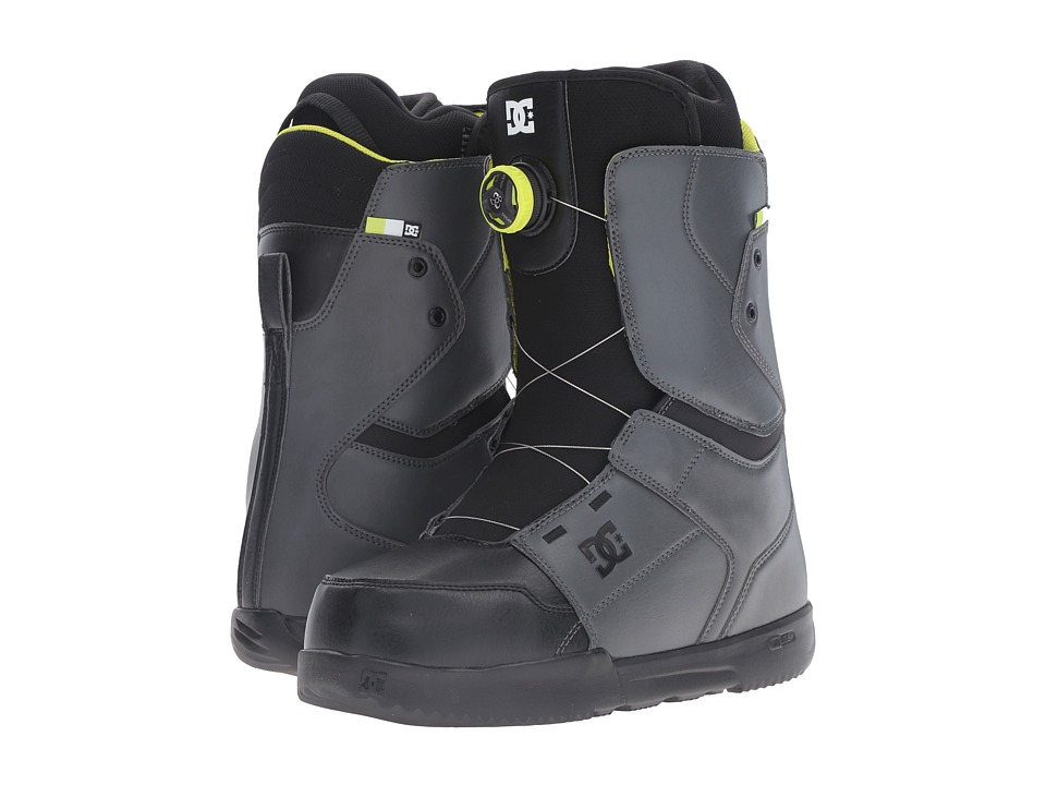 DC - Scout (Dark Shadow/Black/Lime) Men's Snow Shoes