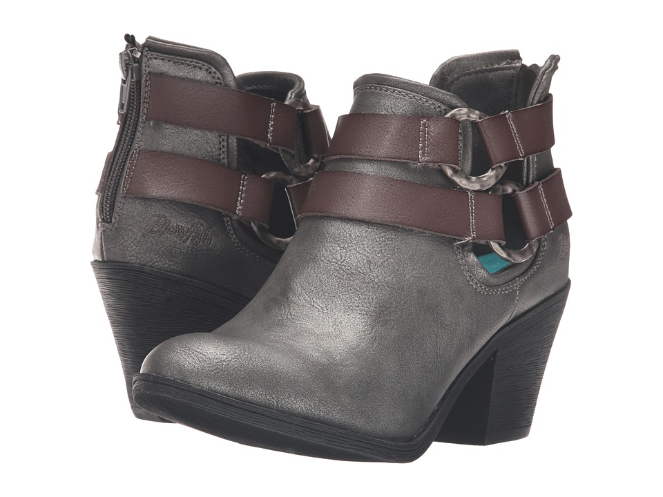 Blowfish - Sucraa (Pewter Metallic Glove/Grey Dyecut PU) Women's Pull-on Boots
