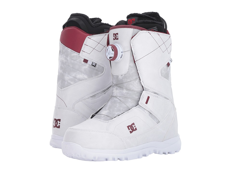 DC - Search Boot (White/Syrah) Women's Cold Weather Boots