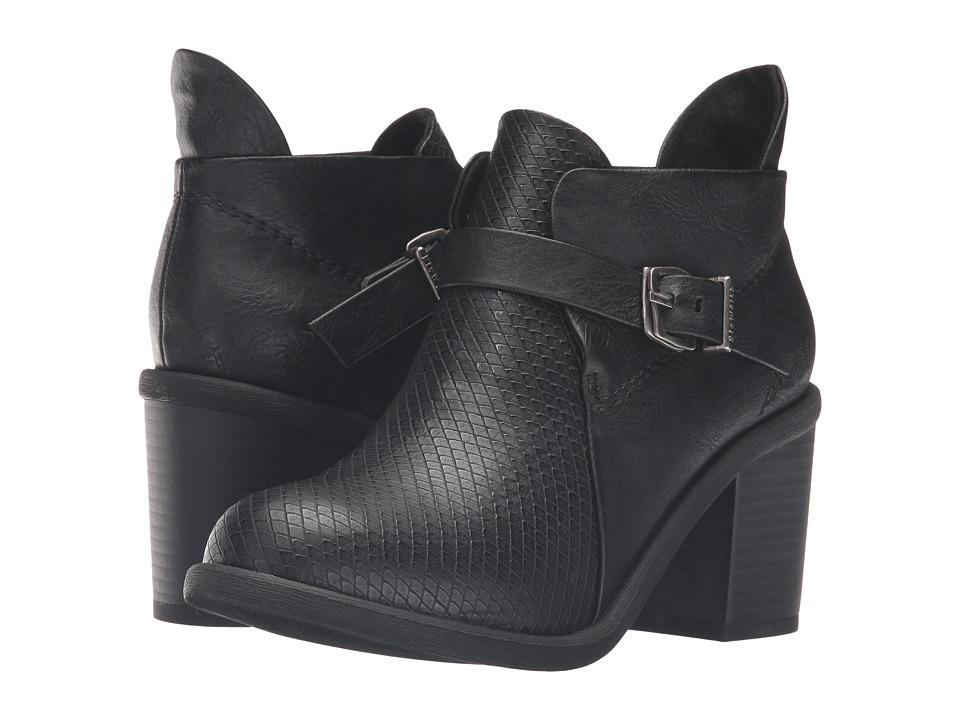 Blowfish - Mina (Black Old Ranger/ Black Chopped PU) Women's Pull-on Boots