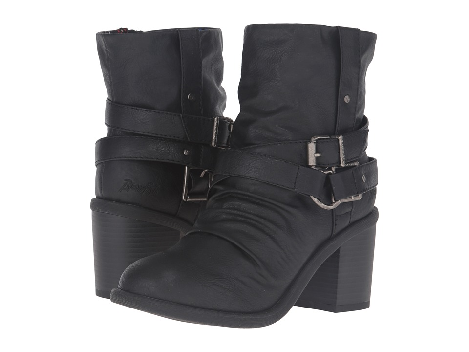 Blowfish - Moran (Black Old Ranger PU) Women's Pull-on Boots