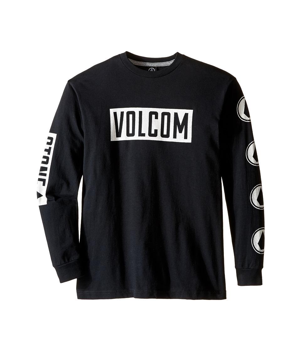 Volcom Kids Knock Long Sleeve Tee (Big Kids) (Black) Boy
