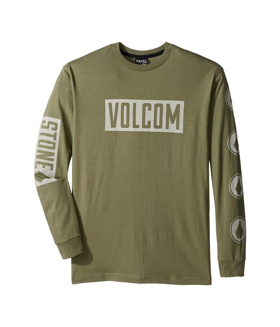 Volcom Kids - Knock Long Sleeve Tee (Big Kids) (Vineyard Green) Boy's T Shirt