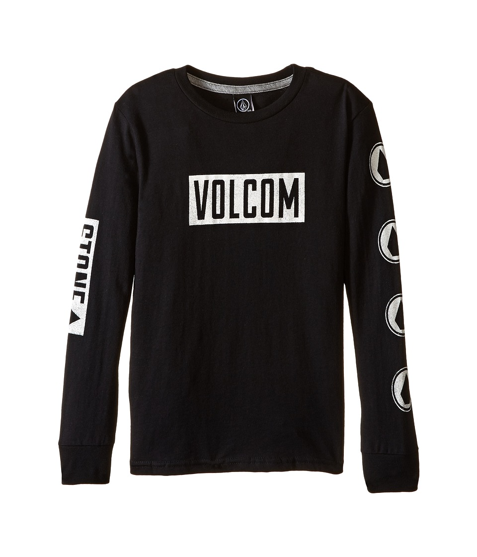Volcom Kids - Knock Long Sleeve Tee (Toddler/Little Kids) (Black) Boy's T Shirt