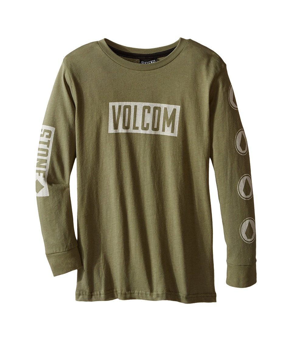 Volcom Kids - Knock Long Sleeve Tee (Toddler/Little Kids) (Vineyard Green) Boy's T Shirt