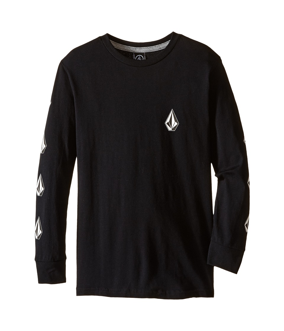 Volcom Kids - Deadly Stones Long Sleeve Tee (Toddler/Little Kids) (Black) Boy's T Shirt