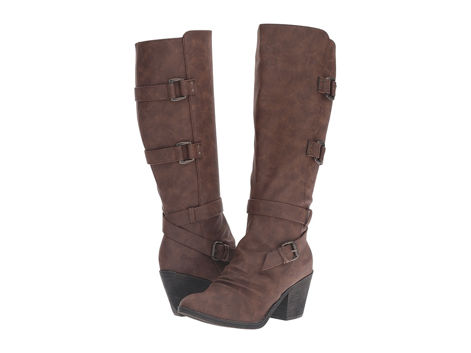Blowfish - Stay (Coffee Texas PU) Women's Zip Boots