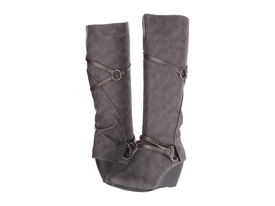 Blowfish - Board (Grey Texas PU/ Dyecut PU) Women's Pull-on Boots