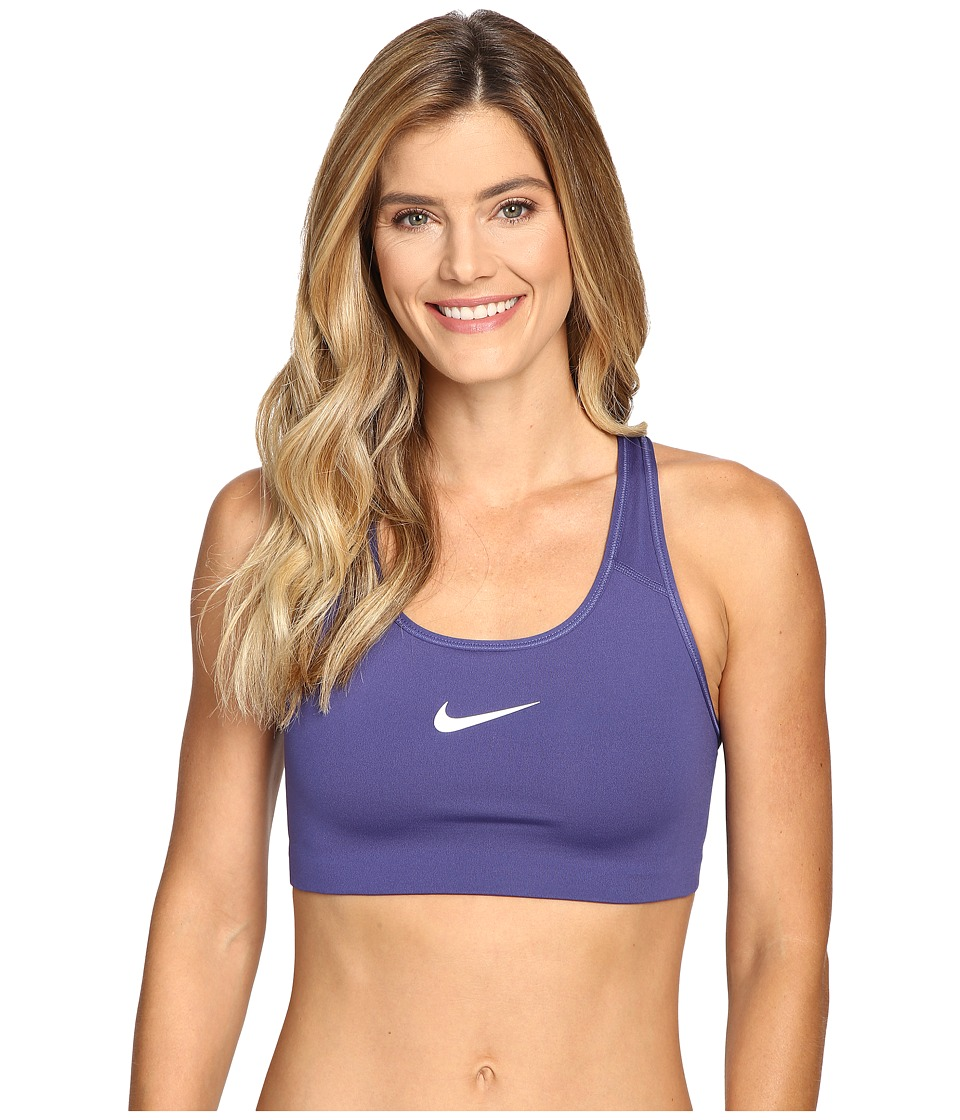 Nike - Pro Classic Swoosh Sports Bra (Dark Purple Dust/White) Women's Bra