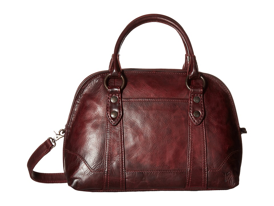 Frye - Melissa Domed Satchel (Wine) Satchel Handbags