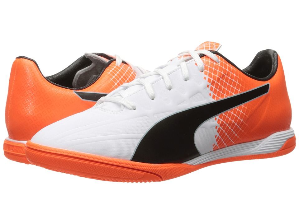 PUMA - Evospeed 4.5 Tricks IT (Puma White/Puma Black/Shocking Orange) Men's Shoes