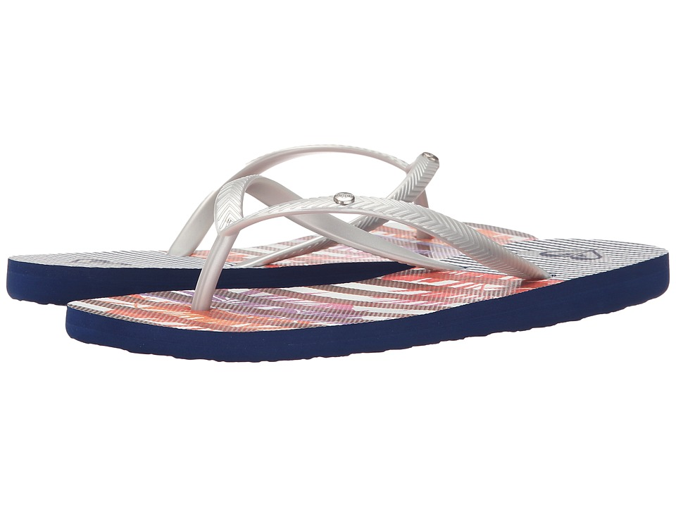Roxy - Bermuda S (Silver/Royal) Women's Sandals