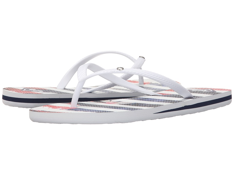 Roxy - Bermuda S (White/Blue) Women's Sandals