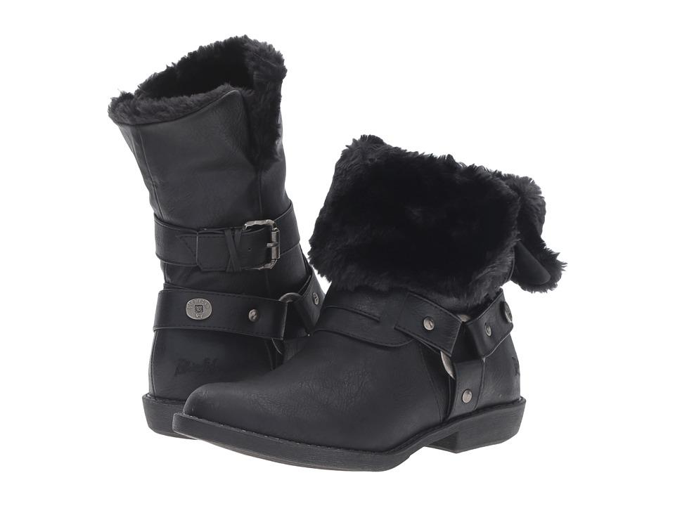Blowfish - Afia SHR (Black Old Ranger PU) Women's Pull-on Boots