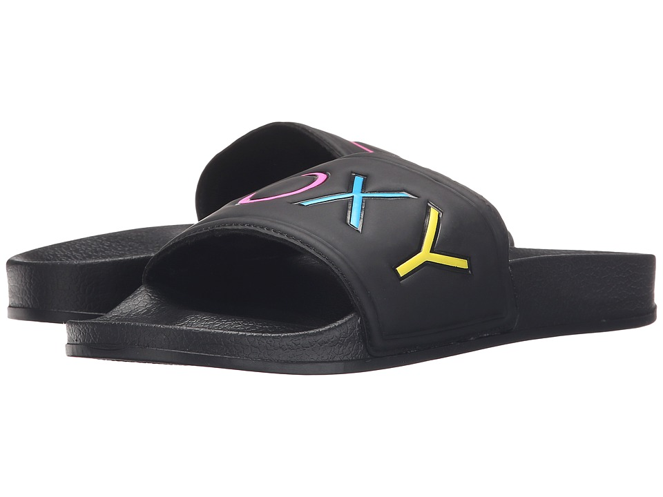 Roxy - Slippy (Black Multi) Women's Sandals