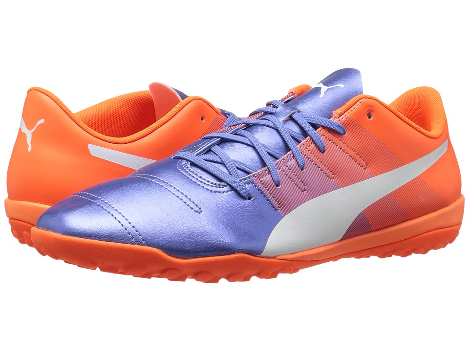 PUMA - evoPOWER 4.3 TT (Blue Yonder/Puma White/Shocking Orange) Men's Shoes