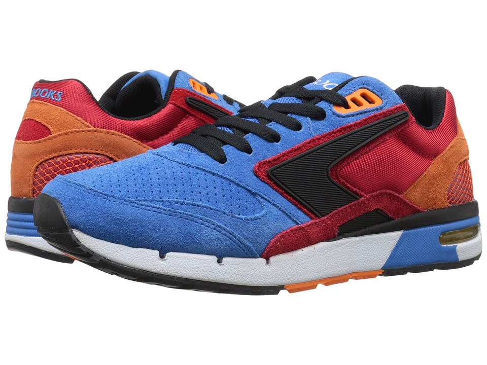 Brooks Heritage - Fusion (Strong Blue/High Risk Red/Orange Popsicle) Men's Shoes
