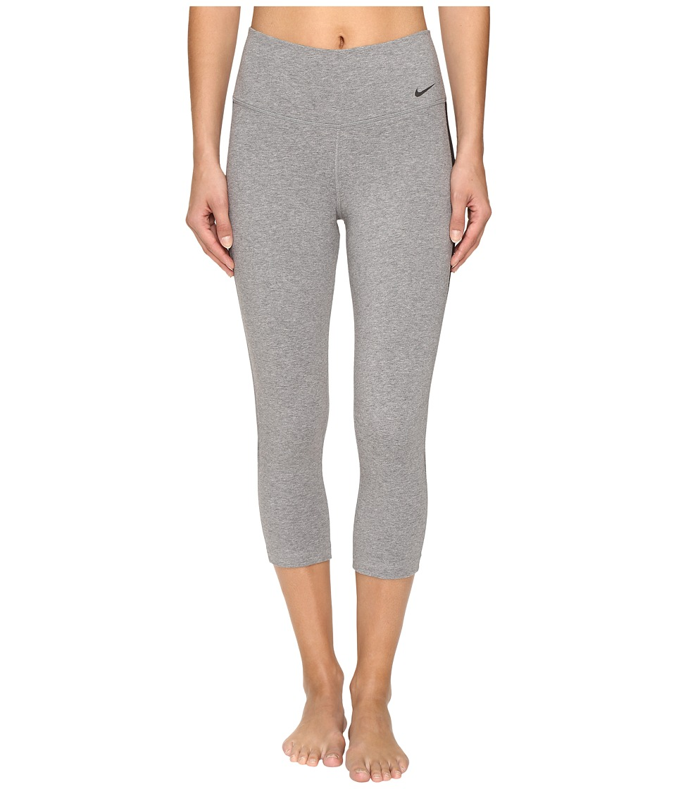 Nike - Dry Capri (Carbon Heather/Black/Black) Women's Capri