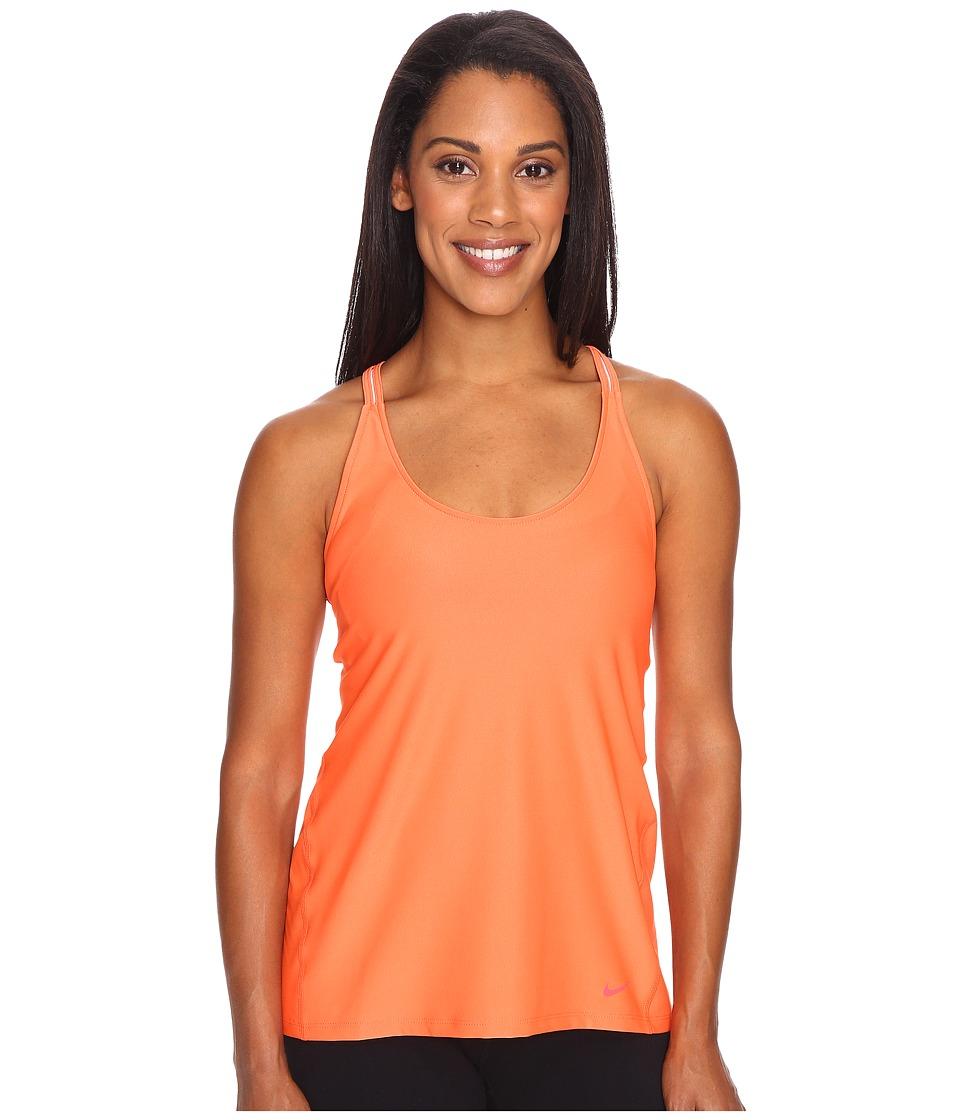 Nike - Strappy Training Tank (Turf Orange/Ember Glow) Women's Sleeveless
