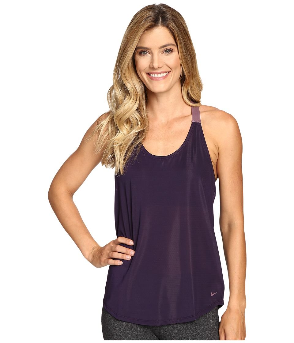 Nike - Elastika Elevate Just Do It Training Tank Top (Purple Dynasty/Purple Shade/Purple Shade) Women's Sleeveless