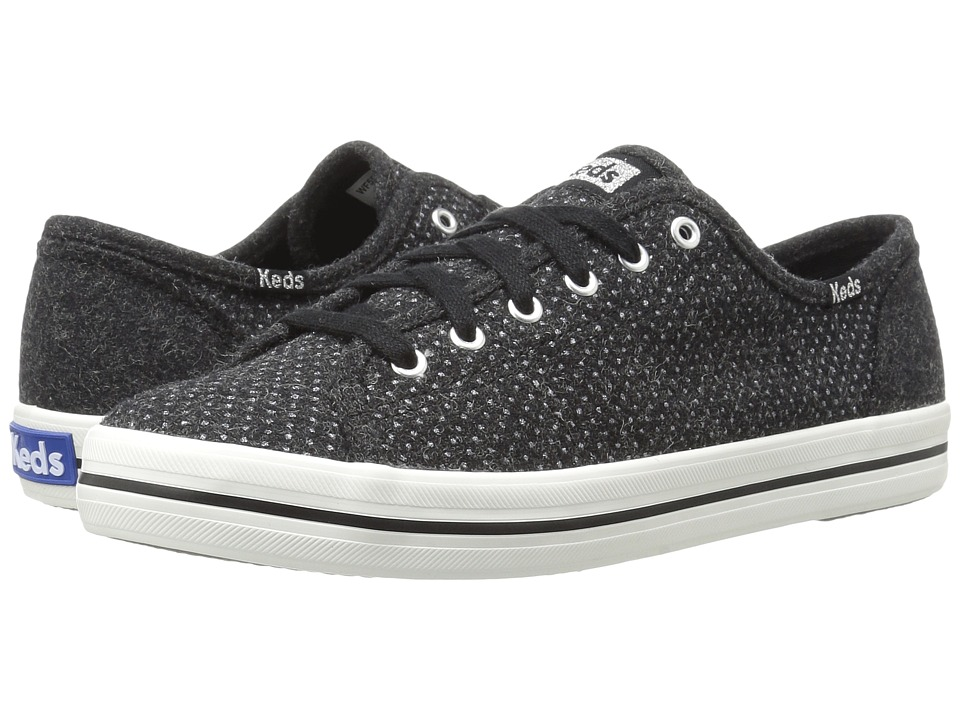 Keds - Kickstart Glitter Wool (Black) Women's Shoes