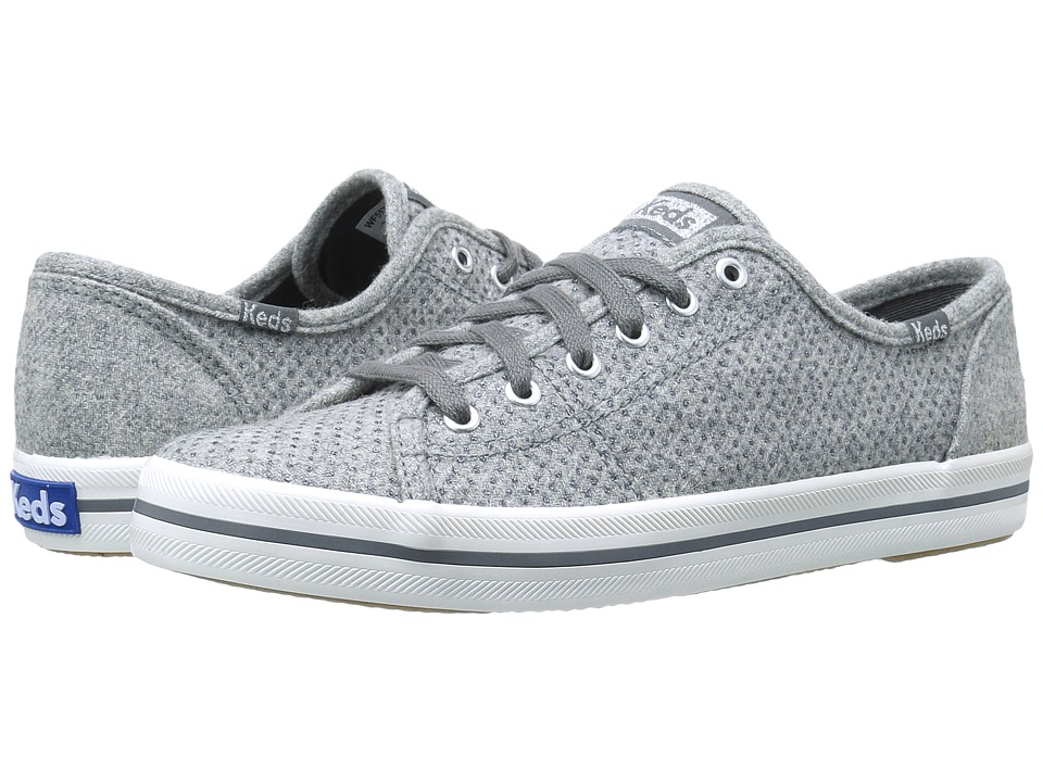 Keds - Kickstart Glitter Wool (Grey) Women's Shoes