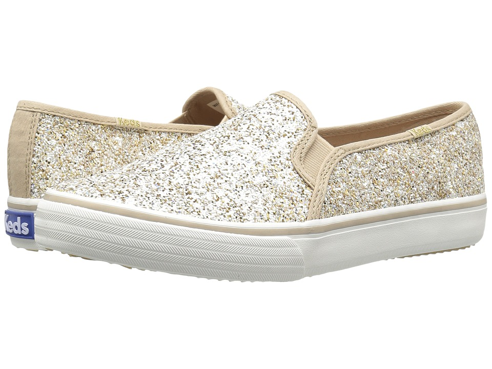Keds - Double Decker Glitter (Champagne) Women's Shoes