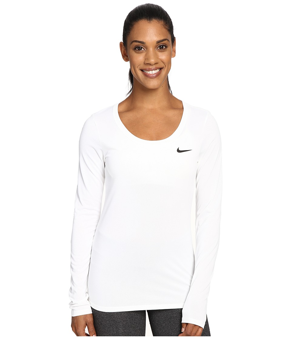 Nike Dry Long Sleeve Training Top (White/Black) Women