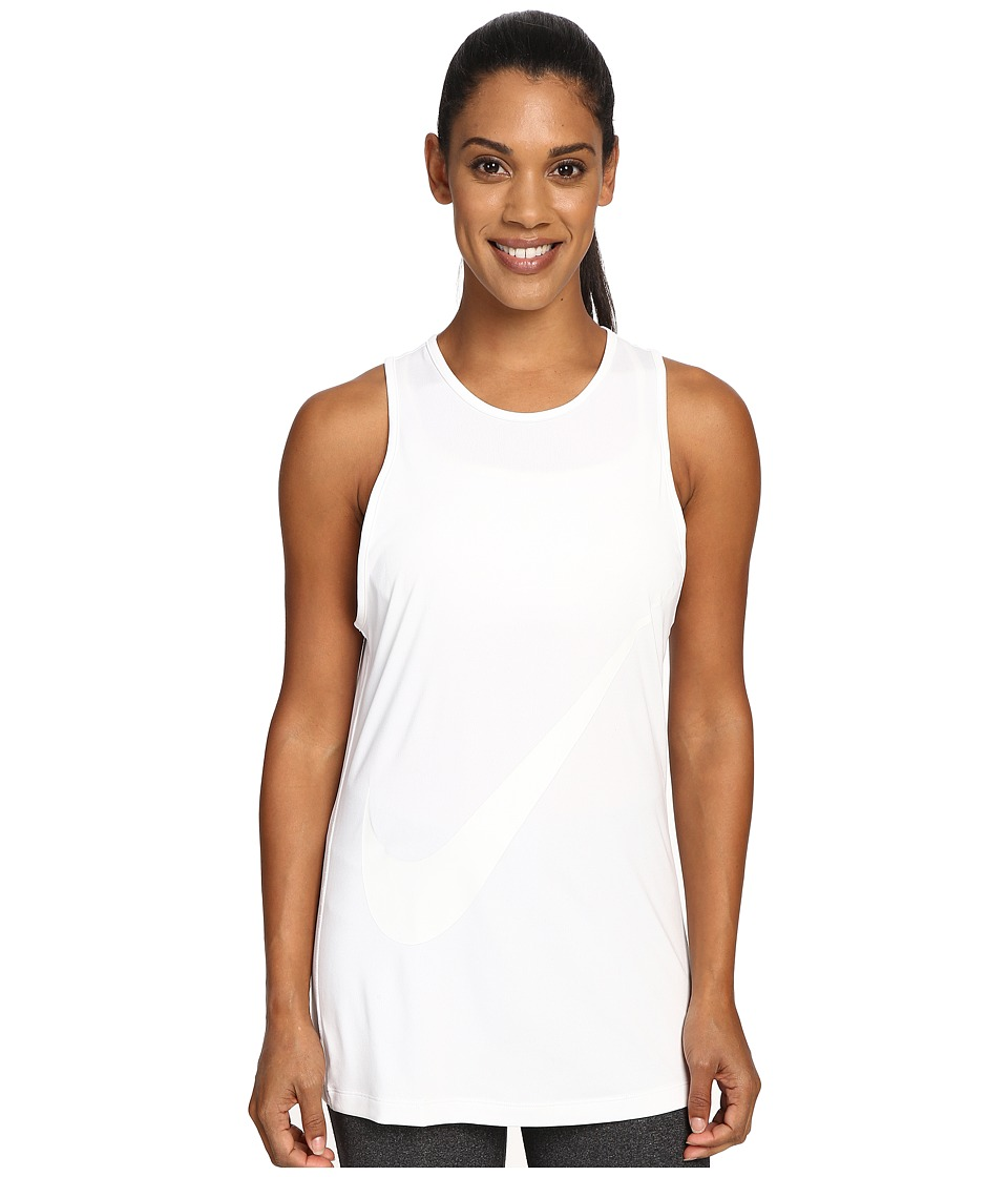 Nike - Tomboy GRX Tank Top (White/White) Women's Sleeveless