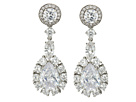 Nina Large Pear Haloed Cluster Earrings