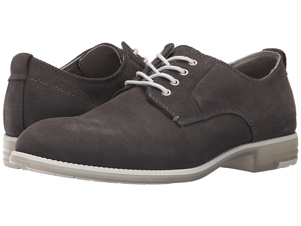 Calvin Klein Jeans - Dwight (Dark Grey Suede/Translucent) Men's Shoes