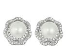 Nina Fresh Water Pearl/CZ Rose Earrings