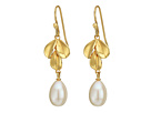 Nina Fresh Water Pearl Leaf Earrings