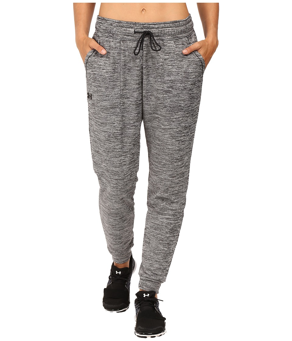 Under Armour - Lightweight Storm Armour Fleece Jogger Twist (Black/Black) Women's Clothing