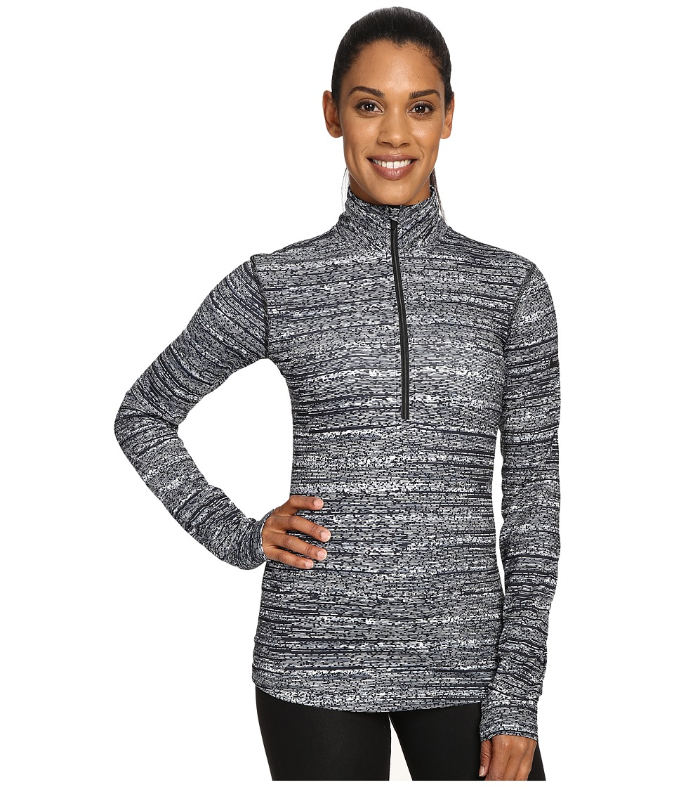 Nike - Pro Warm Subtle Print 1/2 Zip Top (Cool Grey/Black) Women's Long Sleeve Pullover