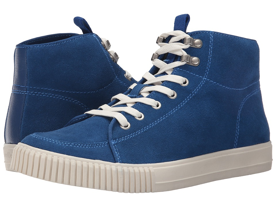 Calvin Klein Jeans - Jenson (Blue/Blue Suede/Canvas) Men's Lace up casual Shoes