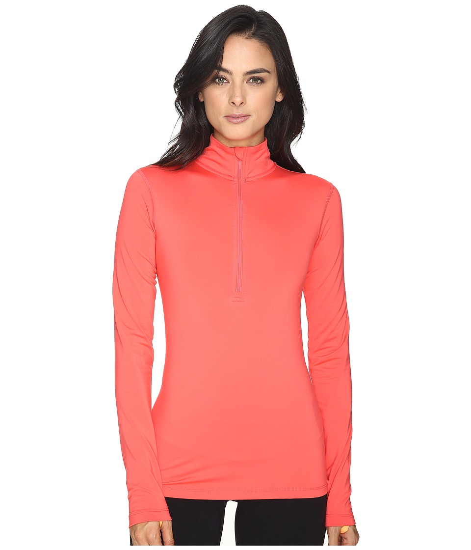 Nike - Pro Long Sleeve Half Zip (Ember Glow/Bright Citrus) Women's Clothing