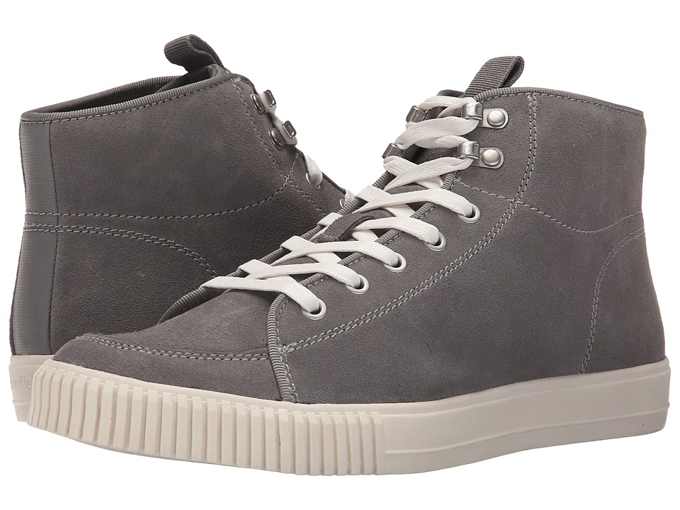 Calvin Klein Jeans - Jenson (Mid Grey/Mid Grey Suede/Canvas) Men's Lace up casual Shoes