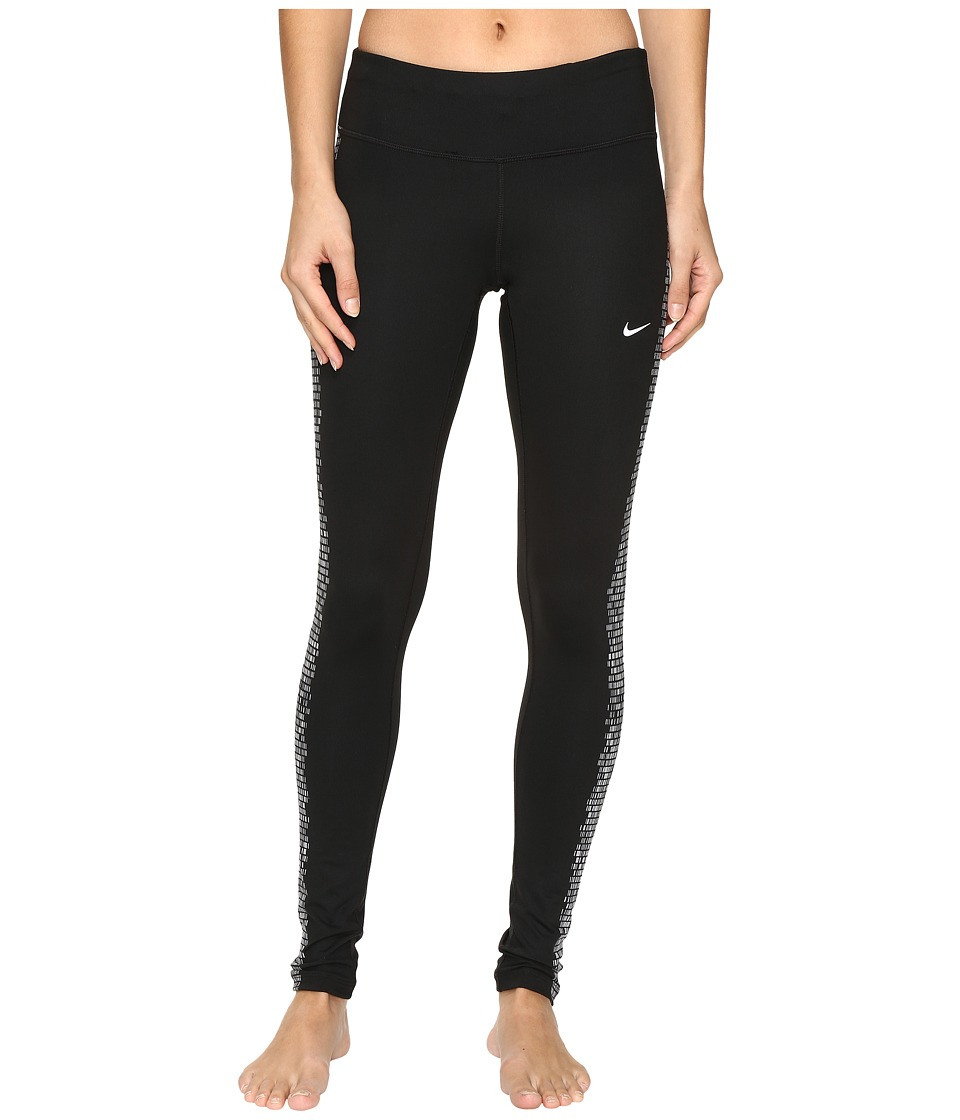 Nike - Power Flash Epic Running Tight (Black/Reflective Silver) Women's Workout