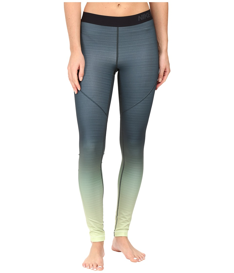 Nike - Pro Hyperwarm Training Tight (Barely Volt/Seaweed/Barely Volt) Women's Workout