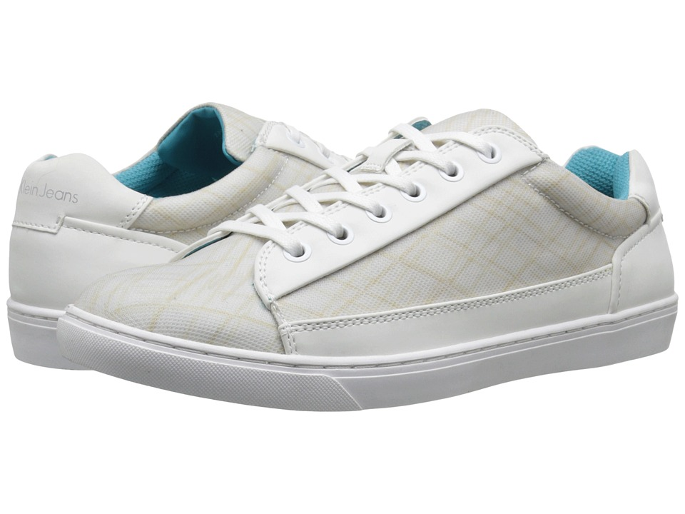 Calvin Klein Jeans - Zamir (White Rubber/City Grid) Men's Shoes