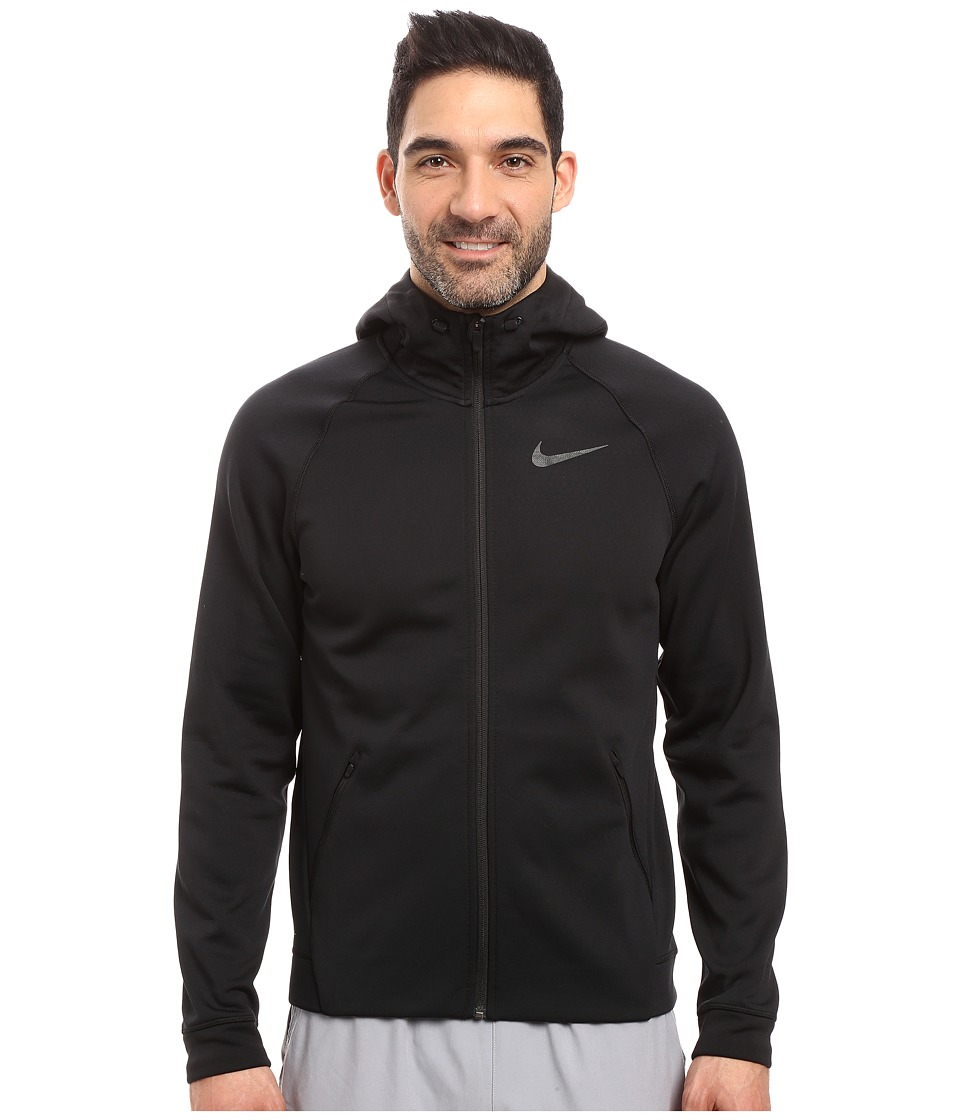 Nike - Therma-Sphere Training Hoodie (Black/Black/Black) Men's Coat