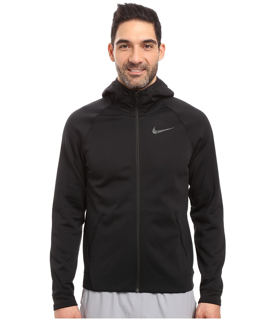 Nike - Therma-Sphere Training Hoodie (Black/Black/Black) Men's Coat