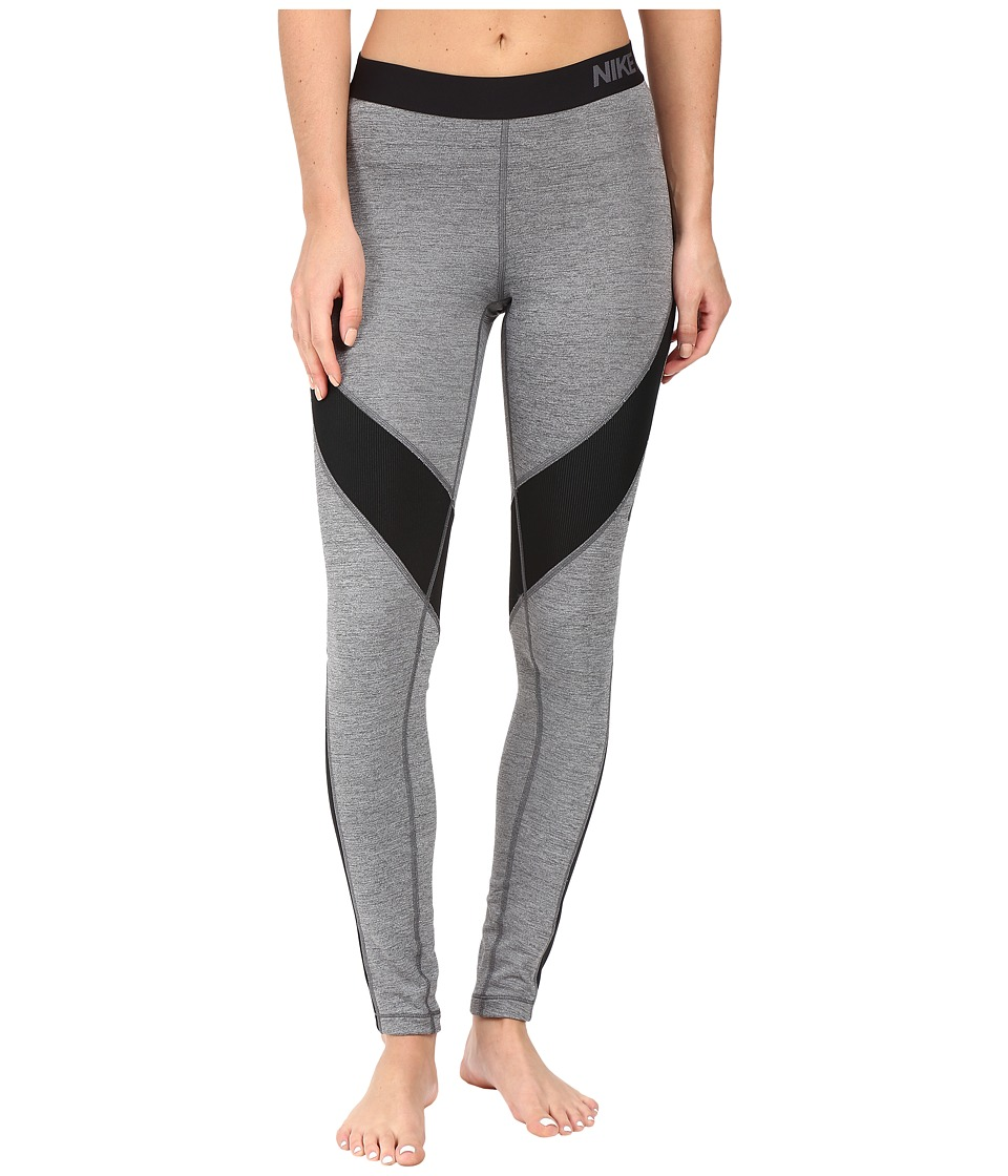 Nike - Pro Hyperwarm Training Tight (Dark Grey Heather/Heather/Black/Black) Women's Clothing