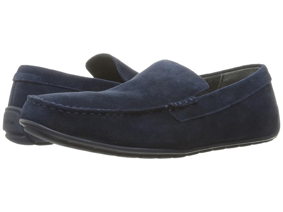 Calvin Klein - Isaac (Dark Navy Oily Suede) Men's Shoes