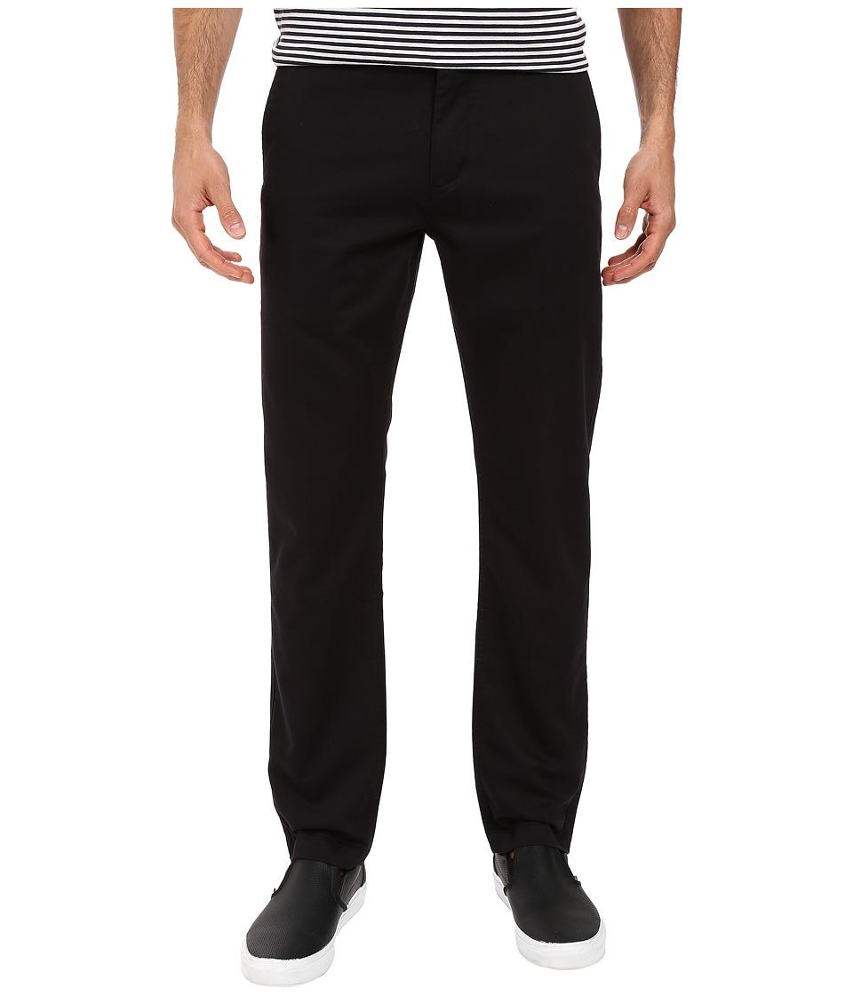 Dockers Men's - Washed Khaki Slim Tapered (Black) Men's Casual Pants