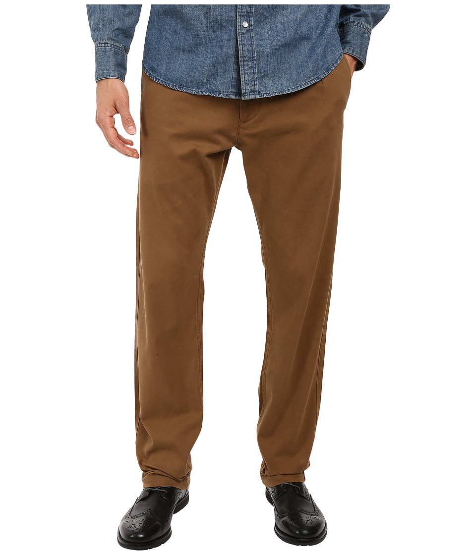 Dockers Men's - Washed Khaki Slim Tapered (Tobacco) Men's Casual Pants